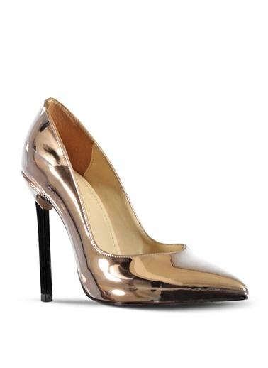 Marjin Topuklu Ayakkabı Pudra